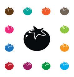 Isolated love apple icon tomato elemen vector