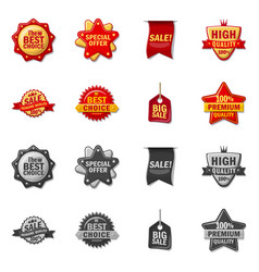 isolated object of emblem and badge symbol vector image