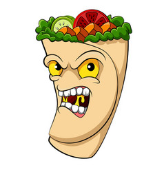 Kebab monster vegetables and meat for vector