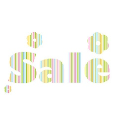 label words drawn from the sale of colored lines vector image