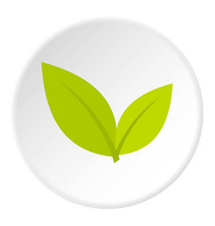 Leaf icon circle vector