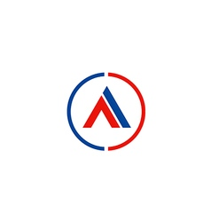 letter A business company symbol logo vector image