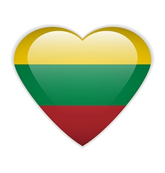 Lithuania flag button vector image