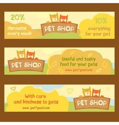 Logo emblem store for cats and dogs Cartoon Edita vector