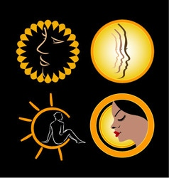 Logos for sun tanning vector image