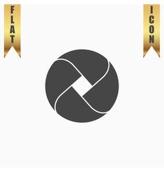 Loop flat icon vector image