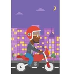 Man riding motorcycle vector
