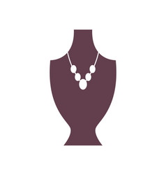 mannequin and necklace poster vector image