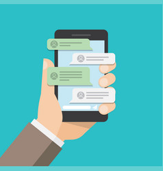 message notifications in mobile phone vector image
