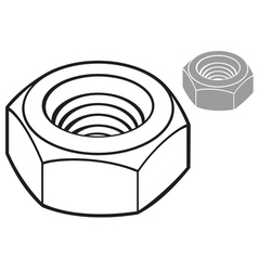 metal nut vector image