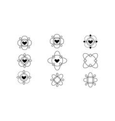 ornament logos vector image