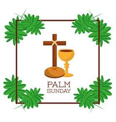 palm sunday card invitation celebration religious vector image