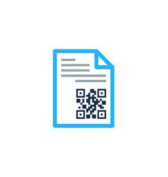 paper barcode logo icon design vector image