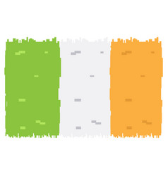 pixelated flag of ireland vector image