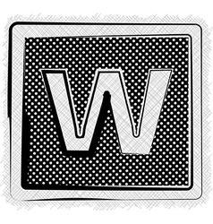 Polka Dot Font LETTER w vector