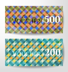Premium Gift Voucher Graphic Template vector image