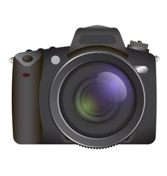 Professional SLR camera photocamera vector
