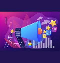 promotion strategy concept vector image