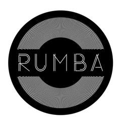 Rumba label stamp vector