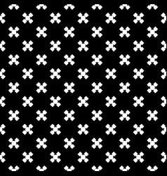 seamless texture cross pattern vector image