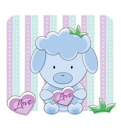 sheep love vector image