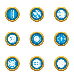 Shirt button icons set flat style vector