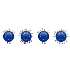 simple made in eu fabrique en europe french vector image