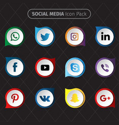 social media icon pack vector image