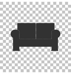 Sofa sign Dark gray icon on vector image