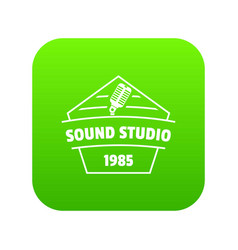 sound studio icon green vector image