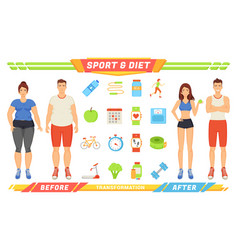 sport and diet healthy poster vector image