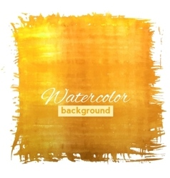 Square orange watercolour banner vector