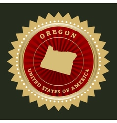 Star label Oregon vector