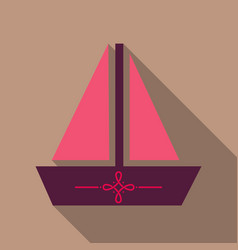summer travel design - sail boat vector image