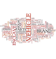 The enclave concept text background word cloud vector