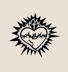 the sacred heart of jesus vector image
