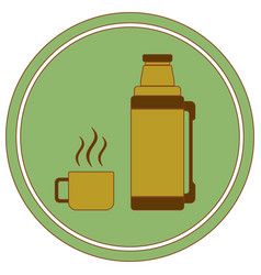 thermos container icon camping and hiking vector image