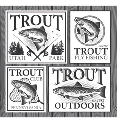 Trout fishing vector image