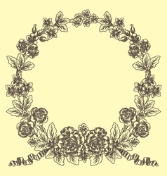vintage laurel vector image