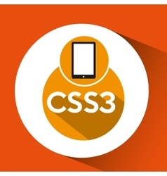 Web development smartphone css3 vector