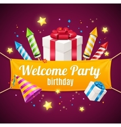 Welcome birthday card vector