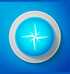 wind rose icon isolated compass icon for travel vector image