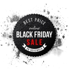Black friday sale 2015 emblem vector image vector image
