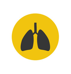 lungs silhouette vector image