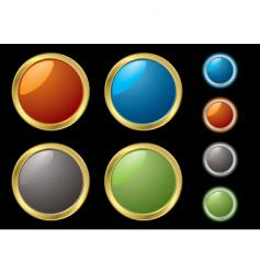 metal rim buttons vector image vector image