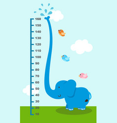 meter wall with elephant vector image