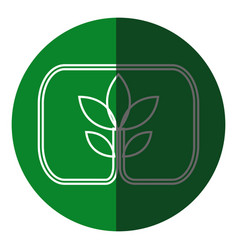 plant leaves natural environment symbol green icon vector image
