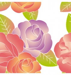 spring summer rose pattern vector image vector image