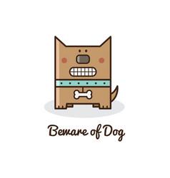 beware of dog vector image