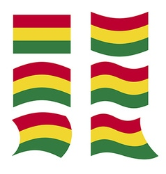 Bolivia flag Set of flags of Bolivian vector image